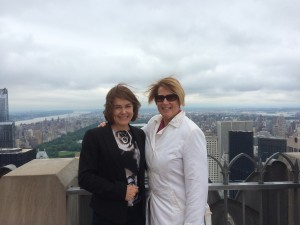 Margaret Scott and Mary Farrell, Senior Director - Sales, Top of The Rock Observation Deck
