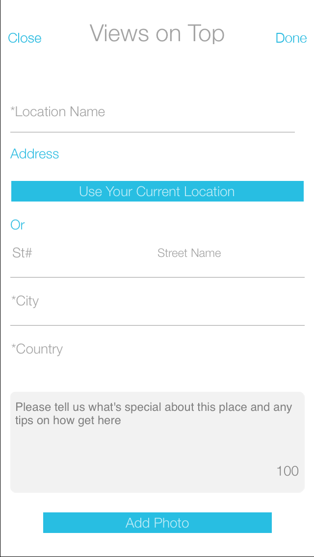 Suggest Location screen v1.1