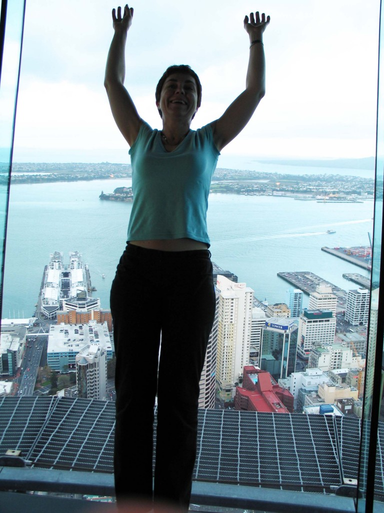 Let's hope the glass holds... Auckland Sky Tower.