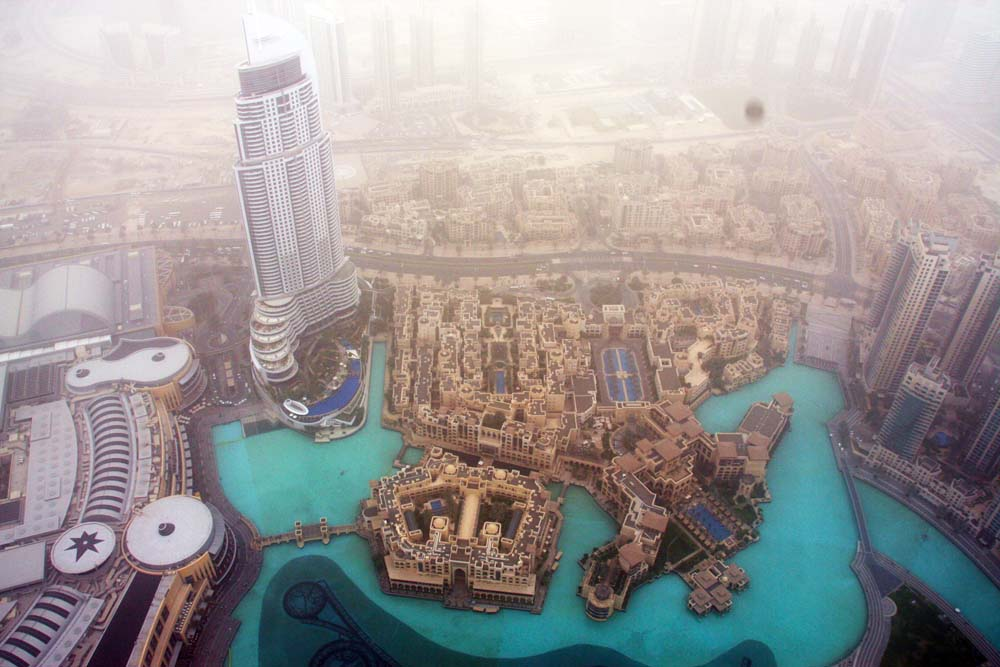 The view from the Burj Khalifa, Dubai