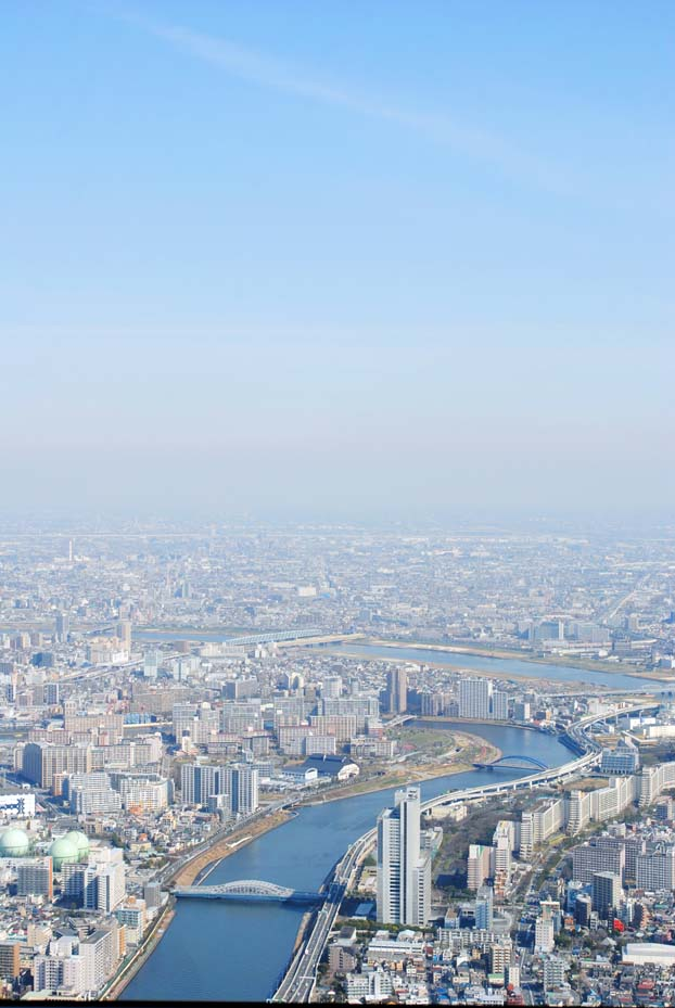 The view north west. Tokyo Sky Tree.