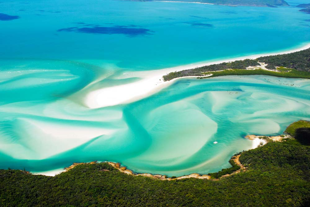 Arial view of Hill Inlet, Whitsunday Island.