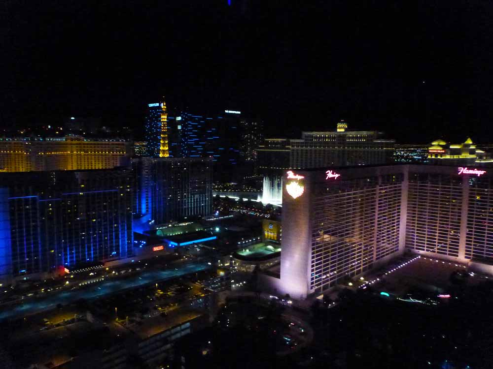 View from the High Roller, Las Vegas.