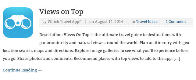 VoT in Which Travel App 2014 08 14