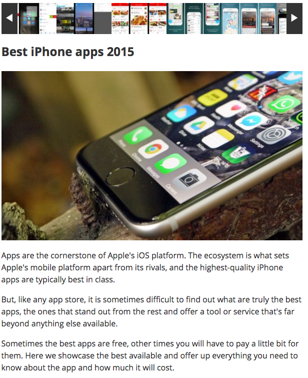 TechRadar Best iPhone apps 2015